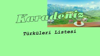 Photo of Karadeniz Türkü Listesi