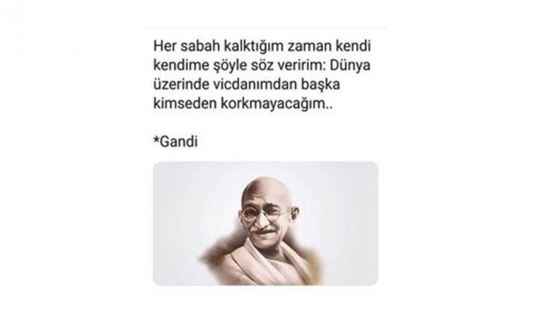 Mahatma Gandhinin Etkili Sözleri.