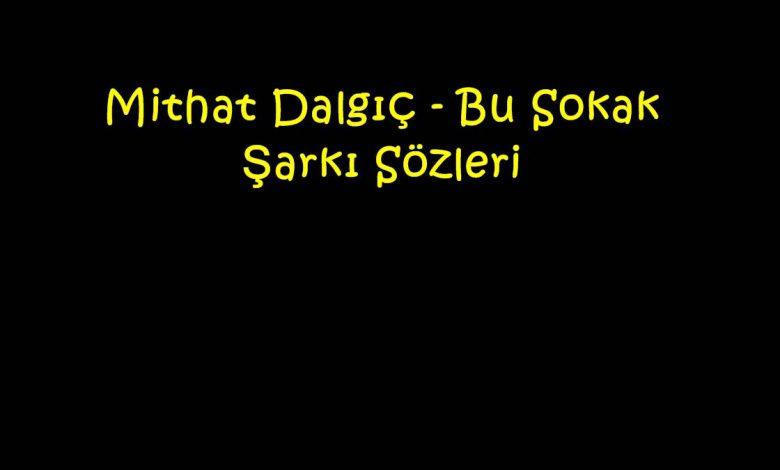 Mithat Dalgıç - Bu Sokak Şarkı Sözleri