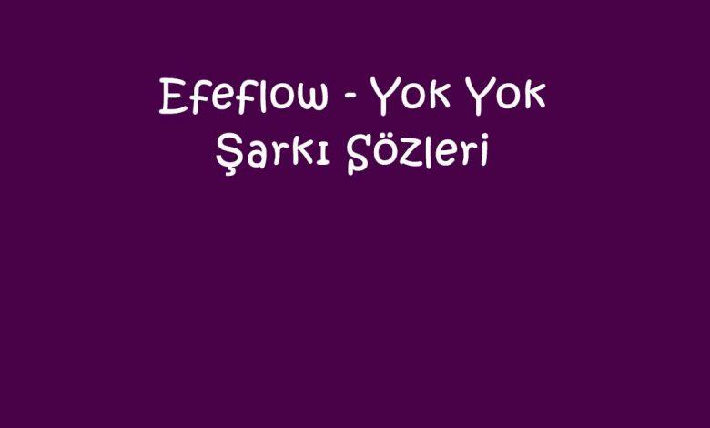 Efeflow - Yok Yok Şarkı Sözleri
