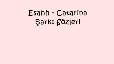 Photo of Esahh – Catarina Şarkı Sözleri