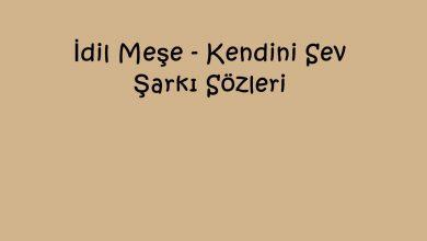 Photo of İdil Meşe – Kendini Sev Şarkı Sözleri
