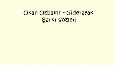 Photo of Okan Özbakır – Giderayak Şarkı Sözleri