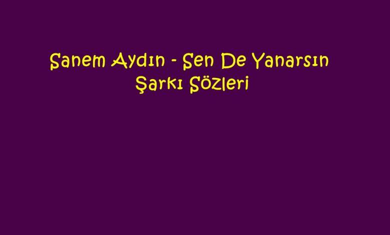 Sanem Aydın - Sen De Yanarsın Şarkı Sözleri