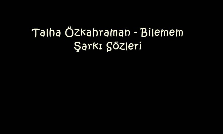 Talha Özkahraman - Bilemem Şarkı Sözleri