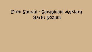 Photo of Eren Sandal – Sataşmam Aşklara Şarkı Sözleri