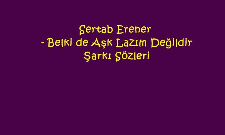 Sertab Erener - Belki de Aşk Lazım Değildir Şarkı Sözleri