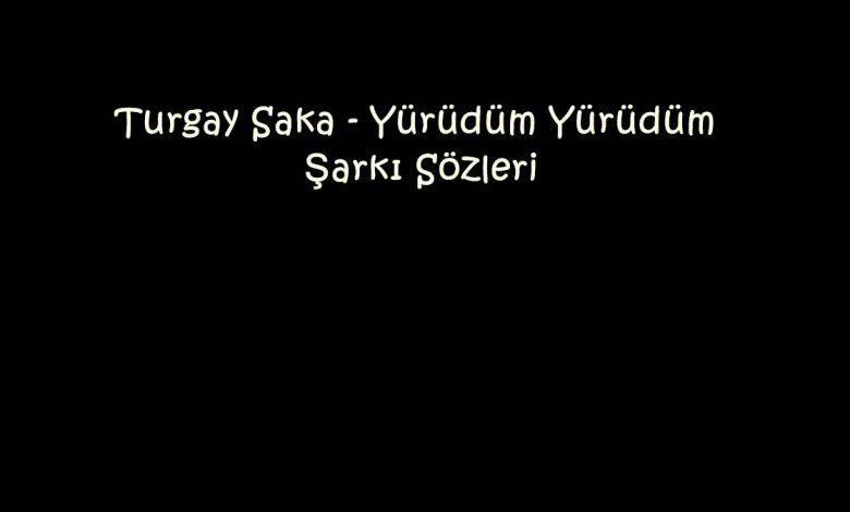 Turgay Saka - Yürüdüm Yürüdüm Şarkı Sözleri