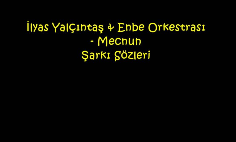 İlyas Yalçıntaş & Enbe Orkestrası - Mecnun Şarkı Sözleri