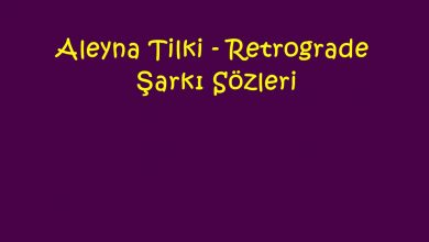 Photo of Aleyna Tilki – Retrograde Şarkı Sözleri