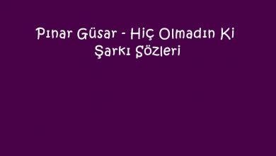 Photo of Pınar Güsar – Hiç Olmadın Ki Şarkı Sözleri