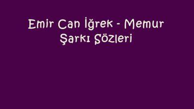 Photo of Emir Can İğrek – Memur Şarkı Sözleri