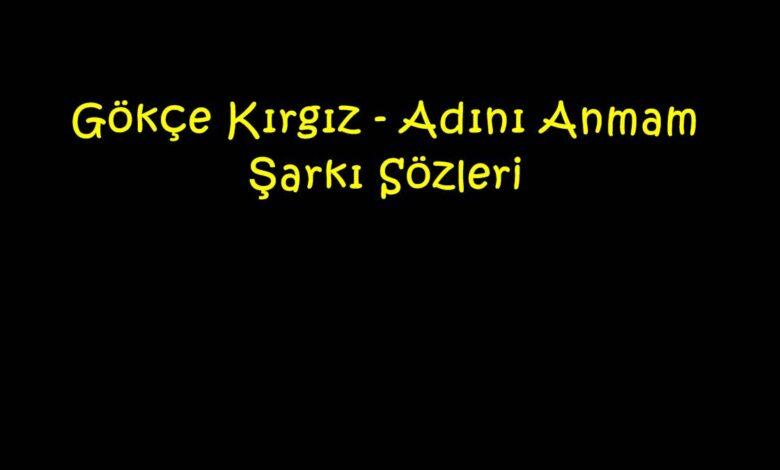 Gökçe Kırgız - Adını Anmam Şarkı Sözleri