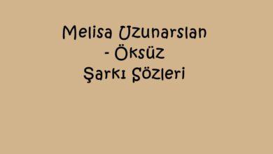 Photo of Melisa Uzunarslan – Öksüz Şarkı Sözleri