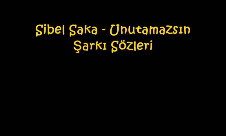 Sibel Saka - Unutamazsın Şarkı Sözleri