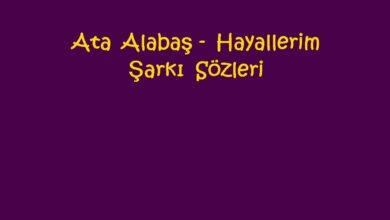 Photo of Ata Alabaş – Hayallerim Şarkı Sözleri