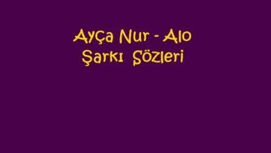 Photo of Ayça Nur – Alo Şarkı Sözleri